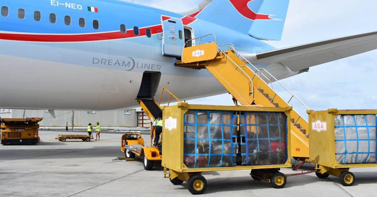 Airline baggage loading