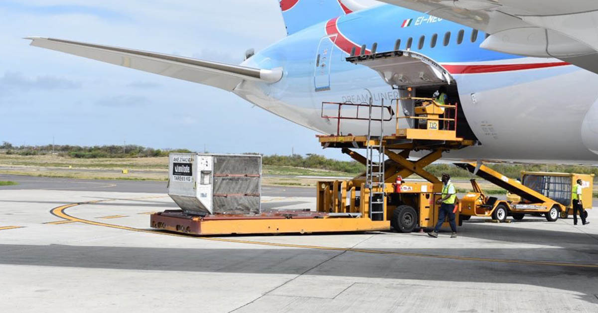 Airline cargo loading unloading